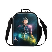 Customized Insulated Lunch Bag Neymar Cooler Bag Small Lunch Box Portable Soccers Thermal Lunch Conatiner for Boys Meal Bag Kids