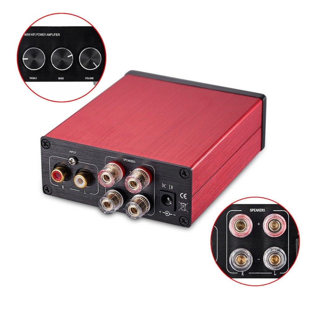 Nobsound Hi-Fi 200-Watt TPA3116 Digital Power Amplifier Hi-Fi Audio Stereo Amp With Treble Bass Control