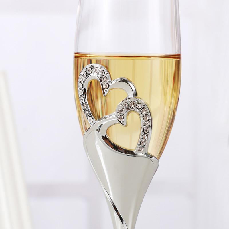 2 PCS /Set Crystal Wedding Toasting champagne flutes glasses Drink - Kitchen, Dining and Bar - Photo 3