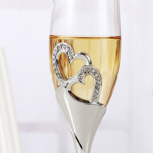 Image 3 - 2Pcs/Set Crystal Champagne Glass Wedding Toasting Flutes Drink Cup Party Marriage Wine Decoration Cups For Parties Gift Box