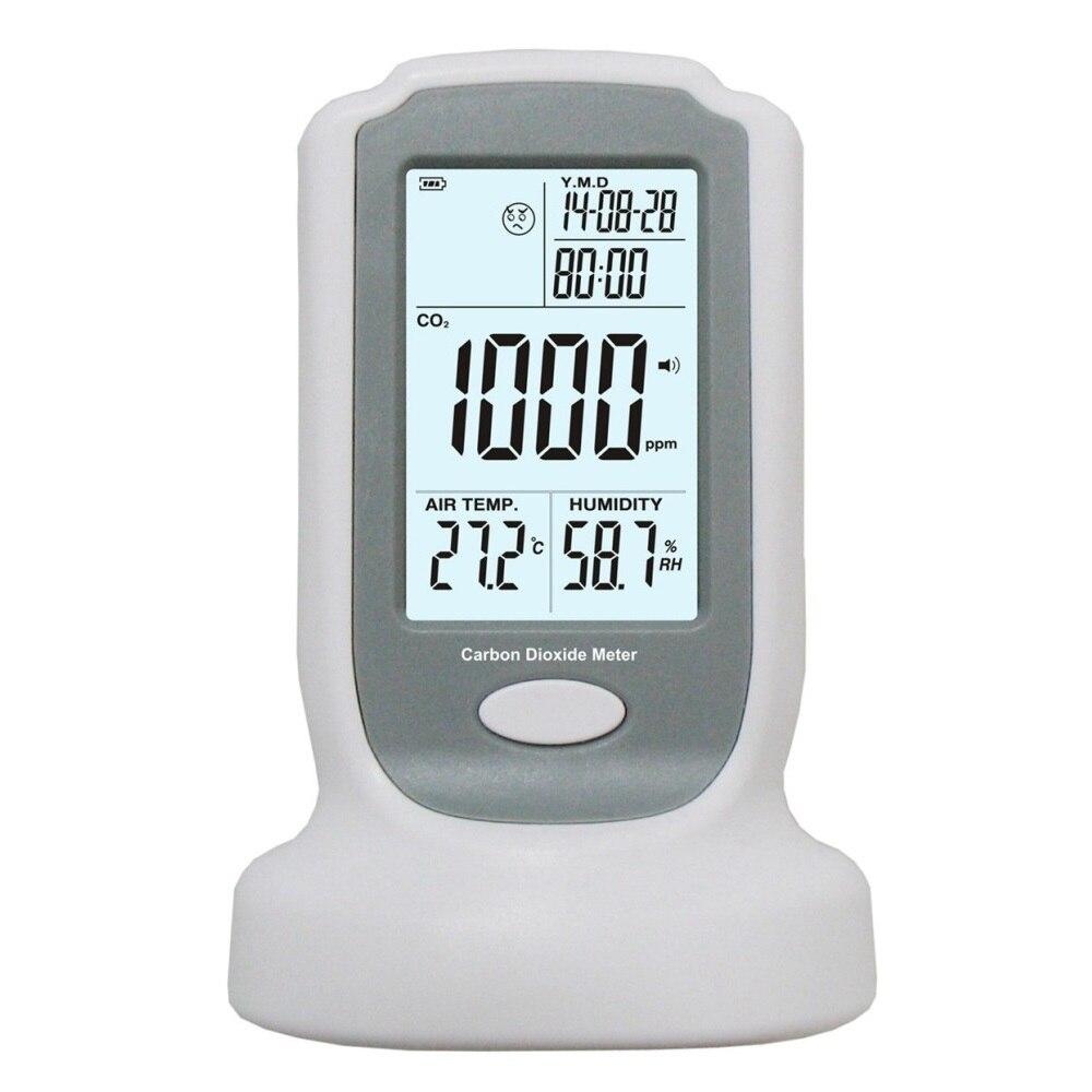 Industrielle Portable Dioxyde De Carbone Détecteur De Gaz D'alarme 0-2000ppm CO2 Concentration Mètre Détection Capteur