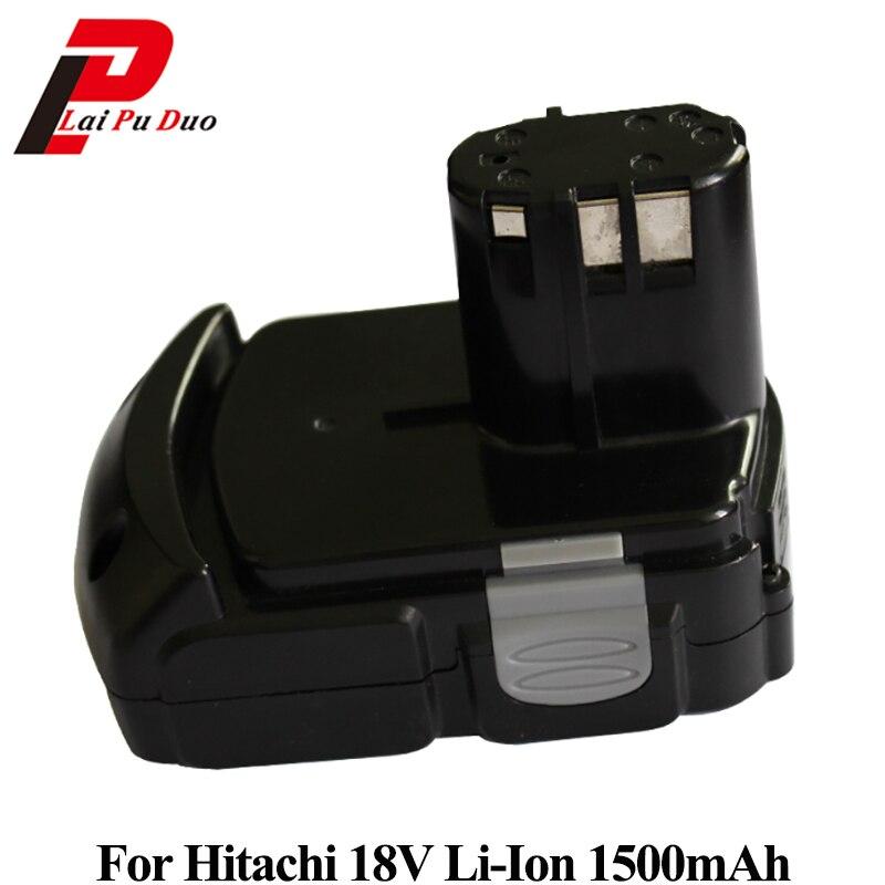 цена на Power tool replacement battery 1.5Ah 18V Li-ion for Hitachi Drill: BCL1815 DS18DFL C18DMR CR18DMR UC18YGL2 C18DL C18DL
