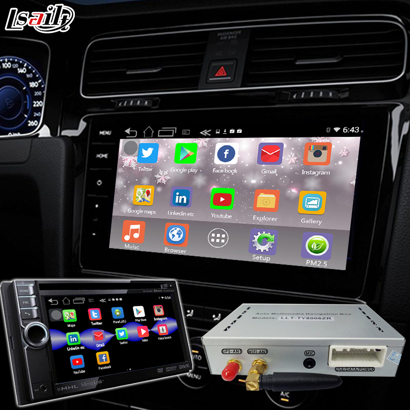 1080P HD Android 6 0 Navigation Box Special for JVC with Built-in WIFI ,  Mirrorlink , 3D Map ,4-Core
