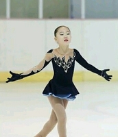 Обувь для девочек Фигурное катание Платья для женщин Изящные новый бренд Катание на коньках платье для конкурса dr4093