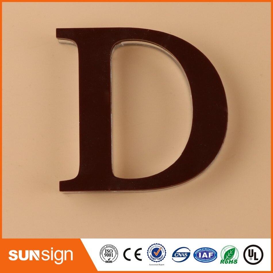 Пользовательские оргстекло знак буквы вывески фирменным знаком компании