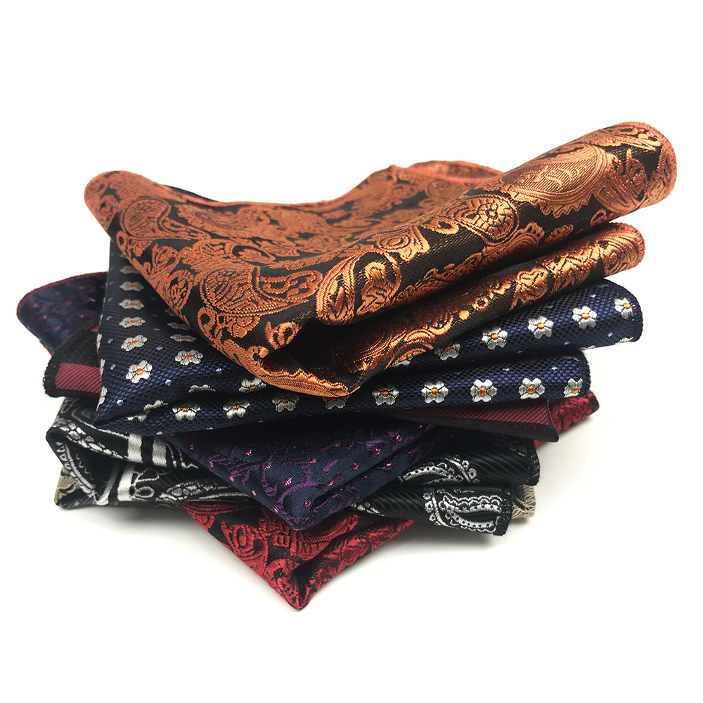 High Quality Polyester Woven Pocket Square For Men