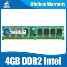 De memoria Ram ddr2 8 gb 2×4 gb ddr2 800 Mhz para intel y amd mobo soporte de memoria 8 gb ram ddr 2 800 PC2-6400 Garantía de Por Vida
