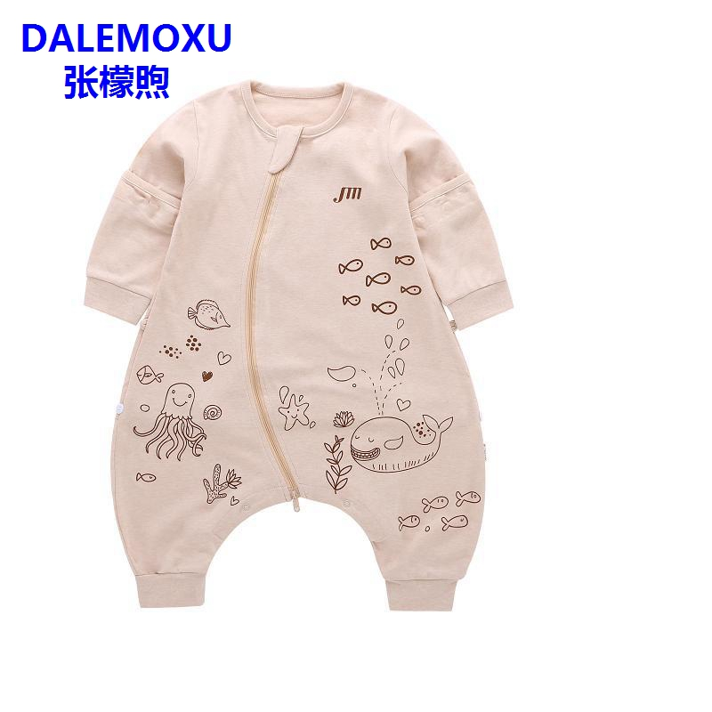 DALEMOXU Baby Sleeping Bag Summer and Autumn Cotton Adjustable Toddler Sleep Sack Cartoon Detachable Sleeve Pajamas Kick Quilt in Sleepsacks from Mother Kids