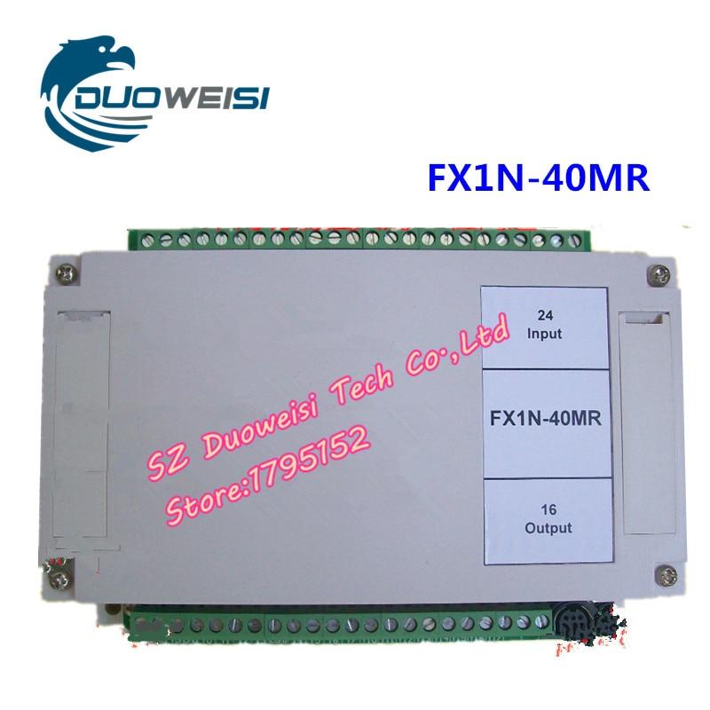 PLC IPC board microcontroller control board relay With housing control board PLC FX1N-40MR FX1N 40MR fx1n 40mr es ul fx1n plc cpu relay output computer interface 8000 steps program capacity 40 i o ports