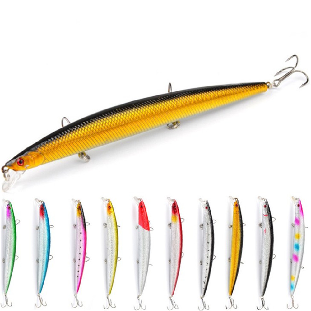 1pcs 18cm 23g Hot Model Minnow Fishing Lure Hard Artificial Bait 3D Eyes Wobblers Crankbait 2# Hooks Sea Pike Fishing Tackle