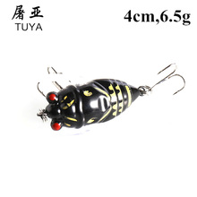 1pcs Hopper Flies 4cm 6.5g Dry Fly Fishing Insect Bait Fishing Lure Carp Trout Muskie Tying Material Flyfishing Treble Hooks 32#