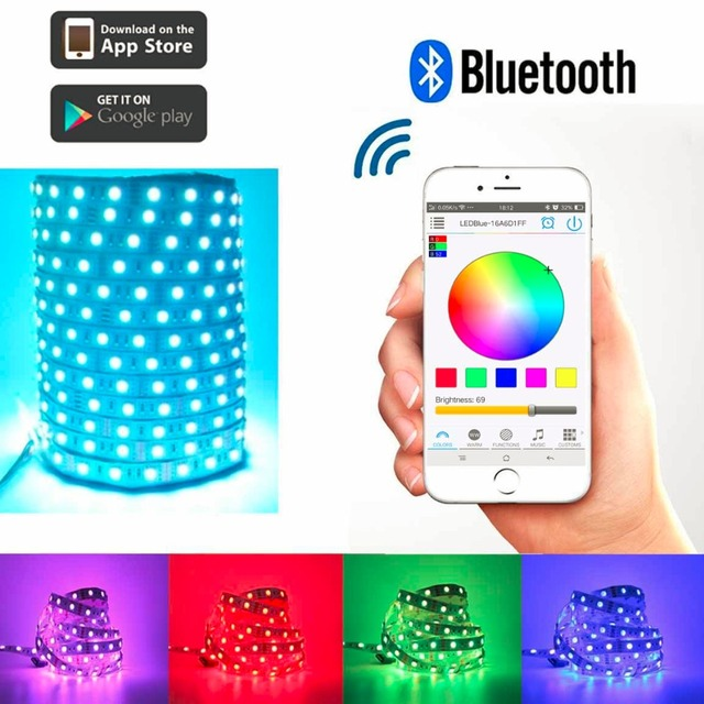 Iphone controlled lighting App Toogod Hot Smart Rgb 300led 5050 Led Strip Light Kitbluetooth App Controlled For Iphone Androidparty Ktv Disco Christmas Light Super Lighting Led Online Store Toogod Hot Smart Rgb 300led 5050 Led Strip Light Kitbluetooth App