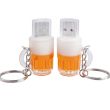 Free Shipping Beer Cup USB Flash Drive Pen Drive 4GB 8GB 16GB 32GB 64GB USB 2.0 Pendrive USB 2.0 Memory Card