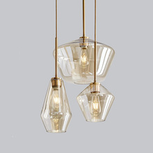 Nordic Minimalist Design Pendant Lamp Clear and Clean Glass Lighting Artsy Casual Classic Lampshade light fixture
