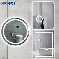 Gappo Bath magnifier Mirrors Led 600*800 cosmetic mirror touch switch light adjustable wall mounted light bathroom makeup mirror