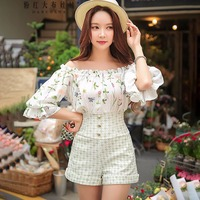 original 2018 brand overalls for women playsuits high waist floral off the shoulder fashion summer jumpsuits women wholesale
