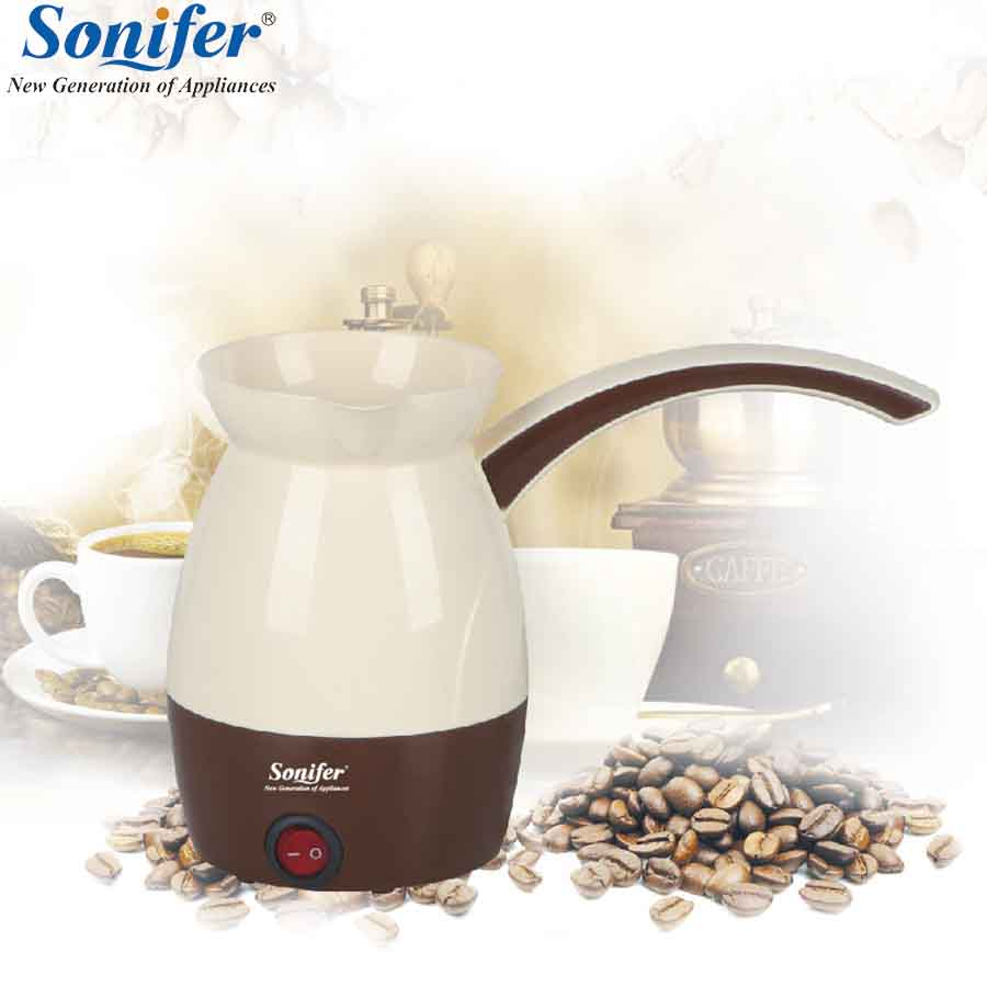 0.5L electric coffee pot mini coffee maker 800W high-power Turkish coffee pot 220V Household Sonifer delicate and creative coffee pot