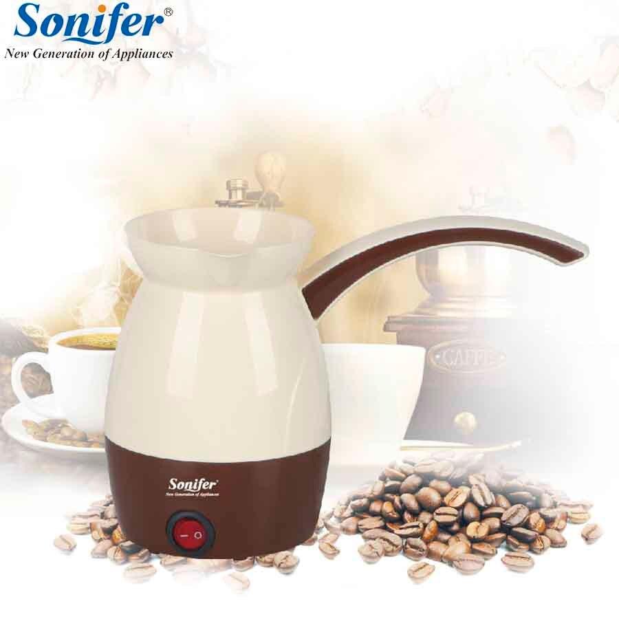 0.5L electric coffee pot mini coffee maker 800W high-power Turkish coffee pot 220V Household Sonifer vasque ботинки snowburban ud 7802 7 turkish coffee russet orange medium