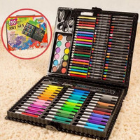 150pcs Colored Pencil Crayons Oil Pastels Painting Paint Brush Drawing Art Tool Artist Kit Present for Kid Painting Supplies