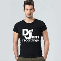 2016 Summer Men Summer T Shirts Def Jam Recordings Retro Band Music T Shirts Casual Tees