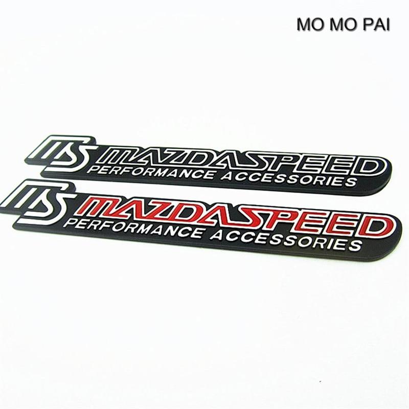 2017 chaude de voiture styling Emblème En Aluminium Tronc voiture Badge AUTOCOLLANT 3D fit Pour MS Mazdaspeed haute qualité MOMO PAI