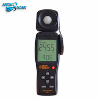 Digita lux medidor mini espectrômetro espectrofotômetro luminômetro luminômetro fotografia fotômetro 1-200  000lux