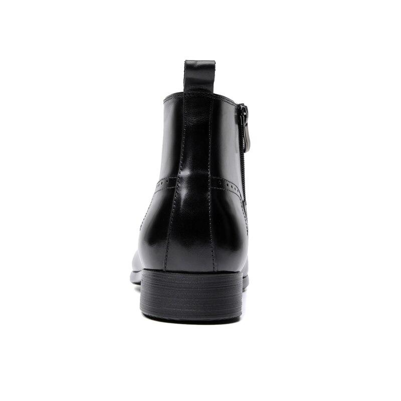 6bf7c54e Genuino Moda Negocios Cuero Punta Chelsea De Zapatos Botas Negro Para  Vestir Hombre aP8wUCq5U