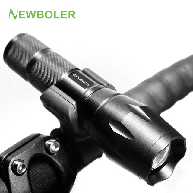 NEWBOLER Bicycle Light 3000 Lumens 5 Mode XM-L T6 LED Bike Light Front Torch Waterproof + Torch Holder Support 18650 Battery