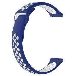 Image 3 - 20MM Neue Ersatz Riemen Zwei farbe Silikon Atmungsaktive Uhr Band Armband Für Garmin Forerunner 245 245M Smart uhr