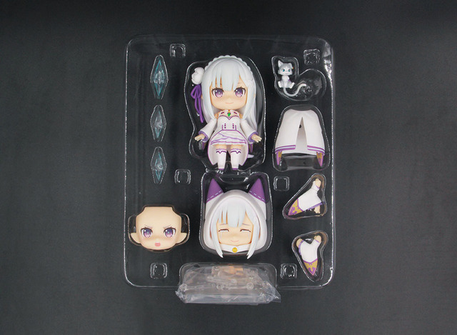 Anime Re : Life in a different world from zero Nendoroid 751 Emilia Kawaii Cute Action Figure Toys 10cm 4