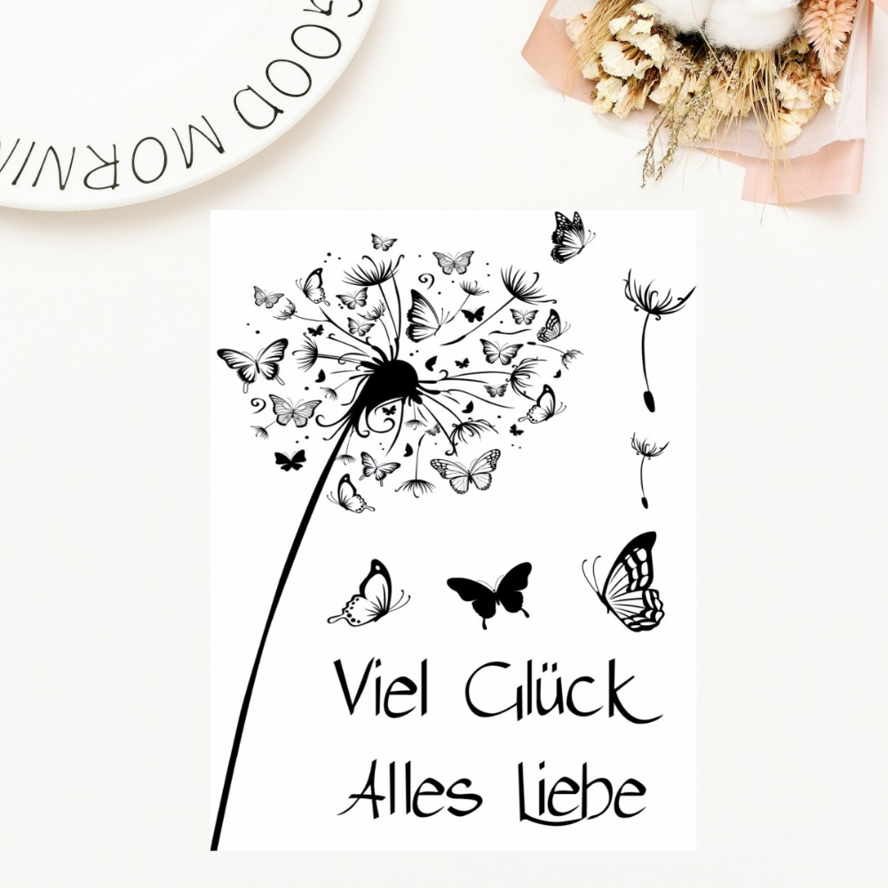 Different Types Dandelion Stamp Rubber Clear Stamp//Seal Scrapbook Decorative Card Making Clear Stamps