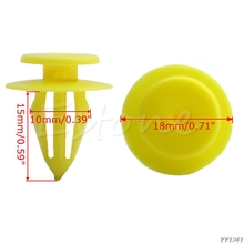 20 Pcs 10mm Hole Plastic Rivets Car Auto Bumper Fender Trim Panel Clip Yellow for Volkswagen