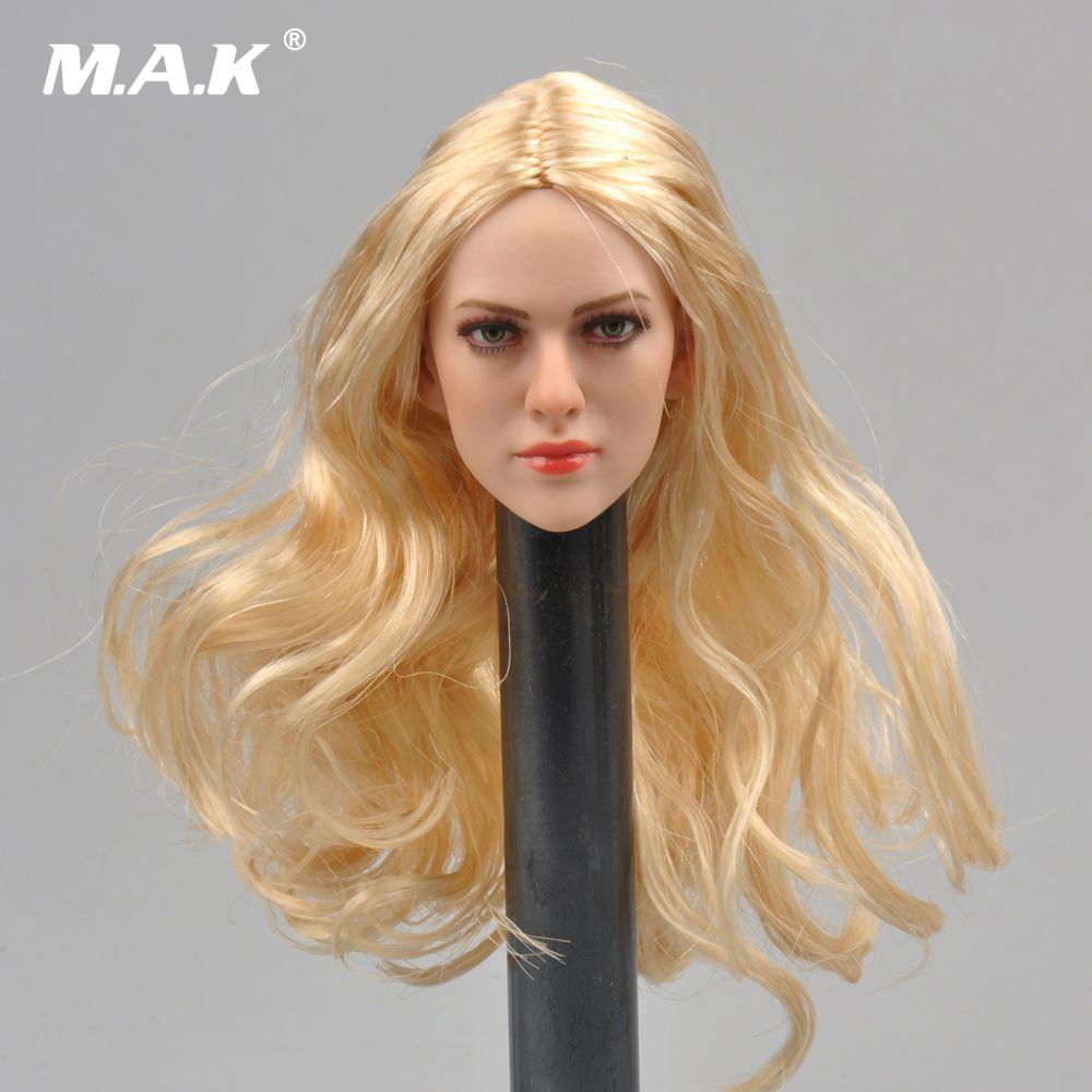 1/6 Scale Blond Hair Female Head Sculpt KT004 Model Fit 12 Womens Bodies Figures Dolls Gifts Toys Collections 1 6 scale american president abraham lincon head sculpt for 12 inches male bodies dolls figures collections toys gifts
