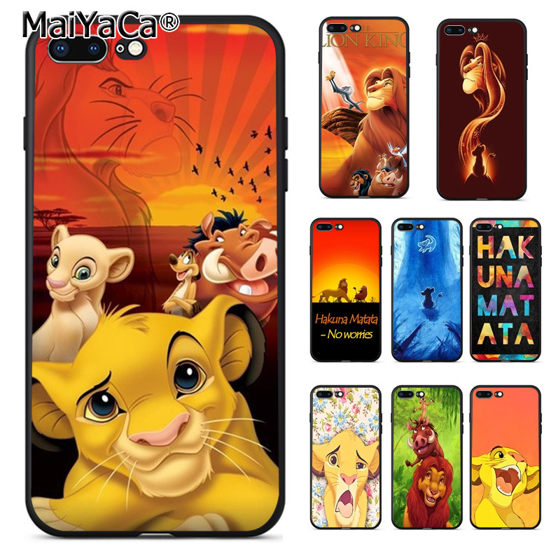 MaiYaCa <font><b>Lion</b></font> <font><b>King</b></font> Hakuna Matata Phone <font><b>Case</b></font> for <font><b>iphone</b></font> 11 Pro XR XS Max 11 Pro Max 8 7 <font><b>6</b></font> 6S Plus X 5 5S SE image