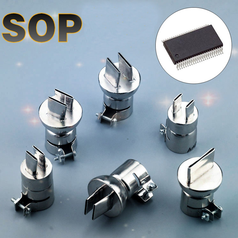 SOP chip Spezielle heißluftpistole düse heißluftpistole Düse doppel einseitig seitliche wind mund düse für rework station 850 serie