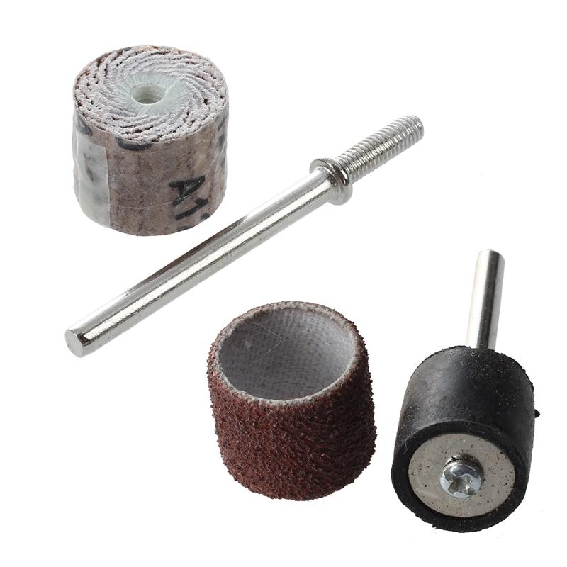 12x14x3mm 120-grit Pinsel Schleifen Werkzeug Klappe Rad (10 Stück) & 100 Pc 1/2 Zoll Schleifen Bands Kit Mit 2 Schleifen Trommel Mandr