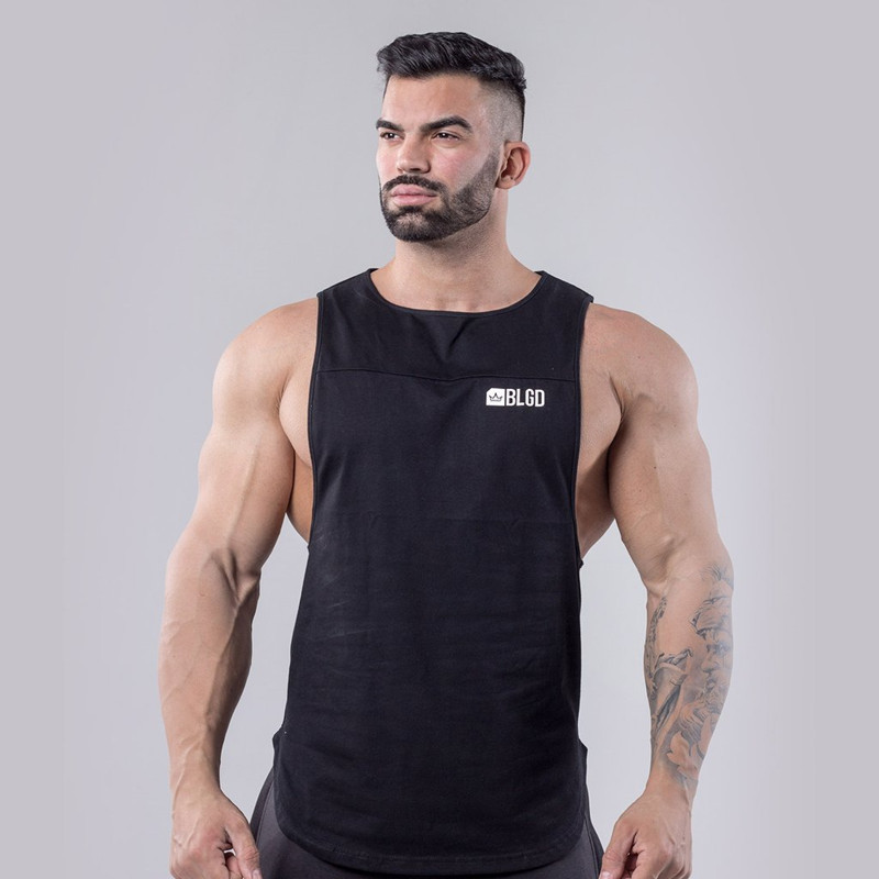 2019 NEW Summer GYM Vest Sport Tank Tops Men Cotton Running Vest Sleeveless Sport T Shirt Fitness Top Bodybuilding Men Tank Tops