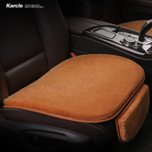 hot deal buy karcle 1pcs plush car seat covers no hair removal seat cushion breathable 4 seasons cover for ford car styling auto accessories