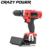 CRAZY POWER 21V Rechargeable Battery Electric Drill Electric Screwdriver Parafusadeira Furadeira Cordless Screwdriver Tool TA356