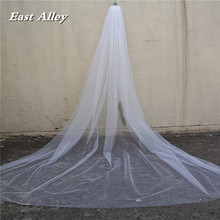Scattered Crystal Rhinestones Wedding Veil , Cathedral Length 118″ Long with Cut Edge 2017 New