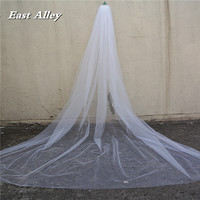 Scattered Crystal Rhinestones Wedding Veil , Cathedral Length 118 Long with Cut Edge 2017 New