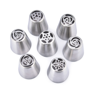 Image 3 - 7pcs Cream Nozzles Stainless Steel Icing Piping Tips Rose Tulip Flower DIY Cake Decoration Tool Kitchen Accessory Baking Supply