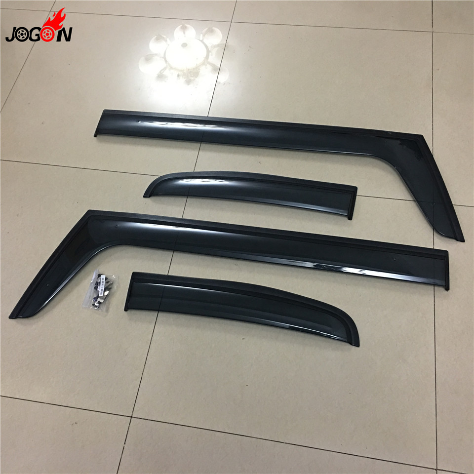 4pcs/set Smoke Sun Rain Visor Vent Window Deflector Shield Guard Shade For Toyota FJ Cruiser 2007-2014 side window sun shield visors vent rain wind deflector guard fit for honda civic 2012