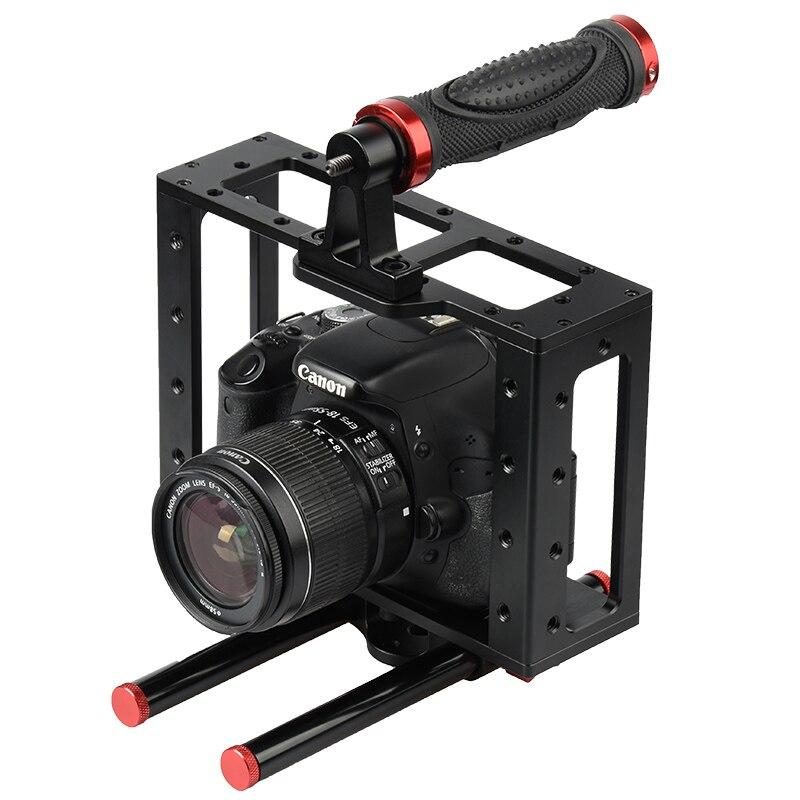 DSLR Rod Rig Camera Video Cage Kit & Handle Grip CS-V5 for Sony A7 A7r A7s II A6300 A6000 For Panasonic GH4 rod rig dslr video cage kit stabilizer handle grip follow focus for sony a7ii a7r a7s a6300 panasonic gh4 m5