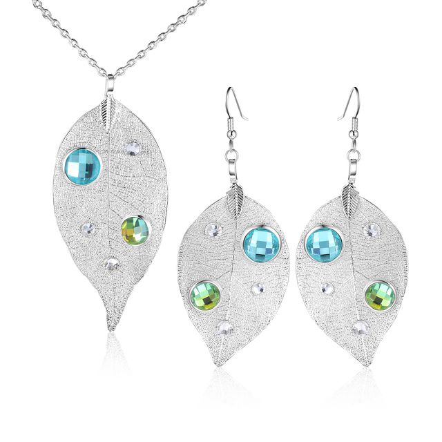ROXI Leaf Jewelry Set Rose...