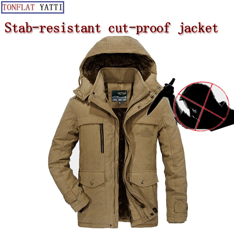 Winter Lamb Cashmere Warm And Self-defense Stab-proof And Cut-proof Soft Stealth Mens Business Jacket Fbi Safety Clothing 2018 Fine Workmanship Security & Protection