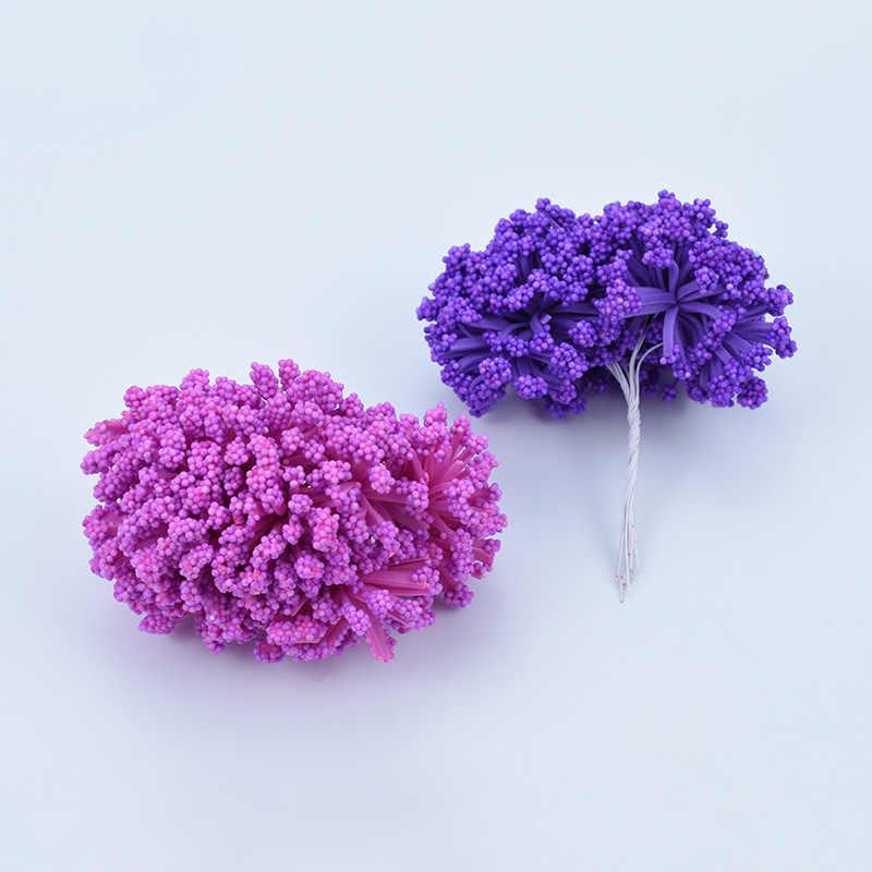 12 pcs PE falso espuma de lavanda flores artificiais para decoração de casa casamento acessórios para noivas desembaraço pompons diy grinalda do natal