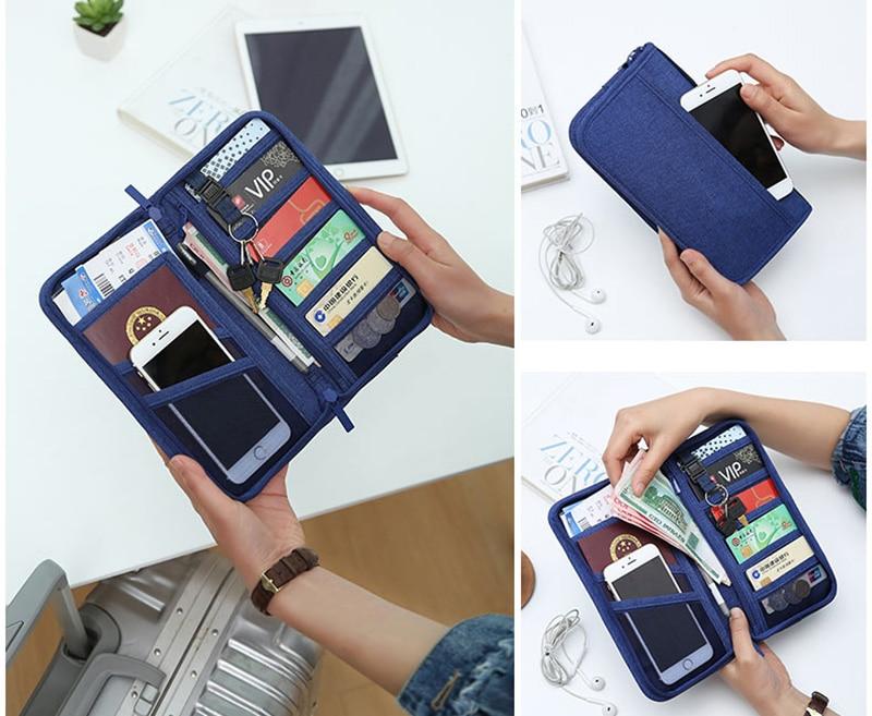 Travel Passport Cover Multifunction Wallet Document Organizer Cover Men Women Business ID Card Holder Case Wrist Strap PC0047 (4)