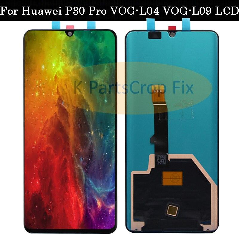 Original Huawei P30 Pro LCD Touch Screen Digitizer Assembly VOG L04 VOG L09 VOG L29 VOG