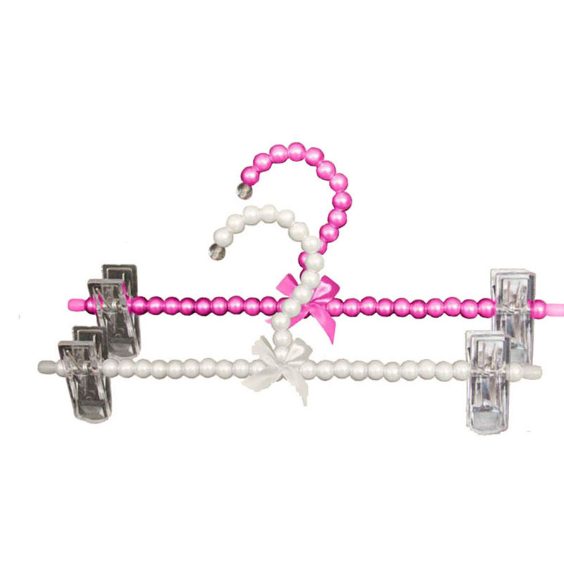 10 stks / partij Kleurrijke Fancy Parel Broek Rok Hanger met Clips, - Home opslag en organisatie - Foto 2